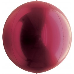 "7"" Metallic Wine Red Balloon Ball"