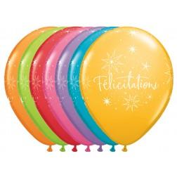"""11"""" Félicitations - Étoiles Assortiment de festivité (50/sac)"""