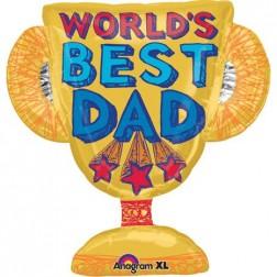SuperShape Best Dad Trophy