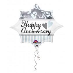 JuniorShape Elegant Happy Anniversary Burst