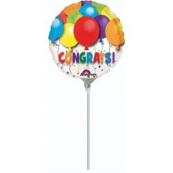 """09"""" Bold Congratulations Balloons"""