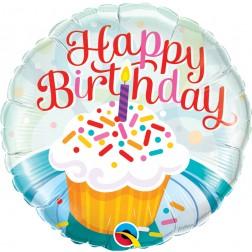 "18"" Birthday Cupcake & Sprinkles"