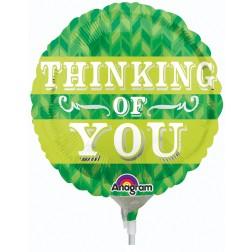 "04"" Green Chevron Thinking Of You"