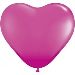 "06"" Wild Berry Heart 100Ct"