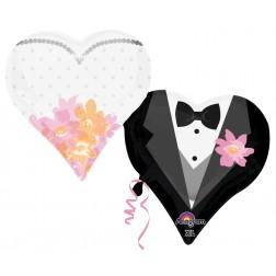 SuperShape Wedding Couple Hearts