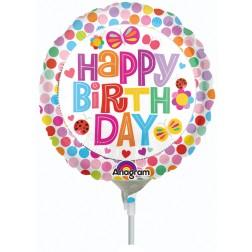 """04"""" Happy Birthday Flower"""