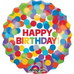 Jumbo Holographic Primary Rainbow Birthday