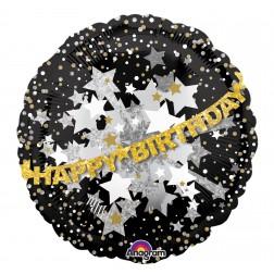 Jumbo Holographic Doo-Dads Happy Birthday Sparkle Banner