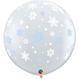 3' Winter Snowflakes Diamond Clear (2ct)