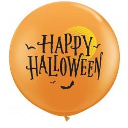 3ft Halloween Moon & Bats (02ct)
