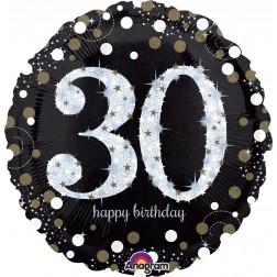 Jumbo Holographic Sparkling Birthday 30