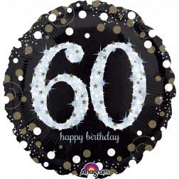 Jumbo Holographic Sparkling Birthday 60