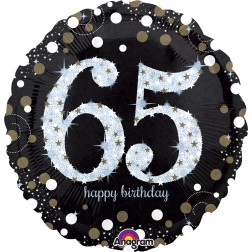 Jumbo Holographic Sparkling Birthday 65