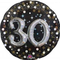 Multi-Balloon Holographic Sparkling Birthday 30