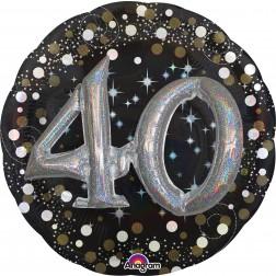 Multi-Balloon Holographic Sparkling Birthday 40