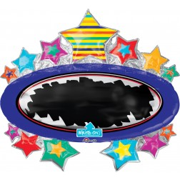 SuperShape Write-On Bright Star Black Board Marquee