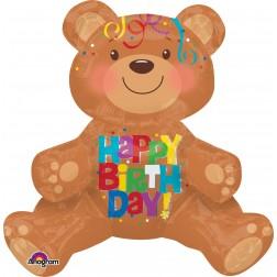 Multi-Balloon Happy Birthday Bear