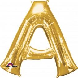 """Anagram SuperShape Letter """"A"""" Gold"""