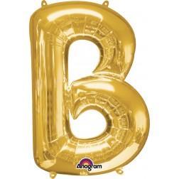 """Anagram SuperShape Letter """"B"""" Gold"""