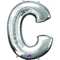 """Anagram SuperShape Letter """"C"""" Silver"""