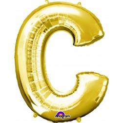 """Anagram SuperShape Letter """"C"""" Gold"""