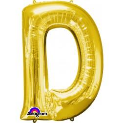 """Anagram SuperShape Letter """"D"""" Gold"""