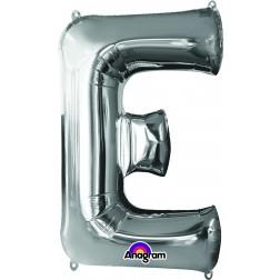 "Anagram SuperShape Letter ""E"" Silver"