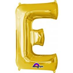 "Anagram SuperShape Letter ""E"" Gold"