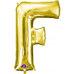 """Anagram SuperShape Letter """"F"""" Gold"""