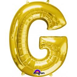 """Anagram SuperShape Letter """"G"""" Gold"""