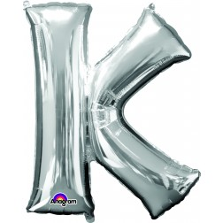 """Anagram SuperShape Letter """"K"""" Silver"""