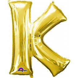 """Anagram SuperShape Letter """"K"""" Gold"""