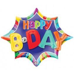 Multi-Balloon Burst Happy BDAY