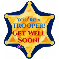 JuniorShape Trooper Badge Get Well Soon