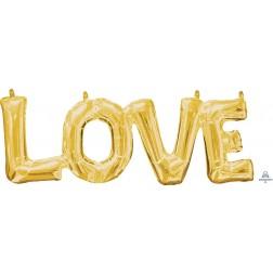 """CI: Phrase """"LOVE"""" Gold"""