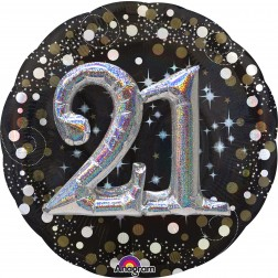 Multi-Balloon Sparkling Birthday 21