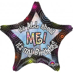 Jumbo Holographic It's All About Me Birthday