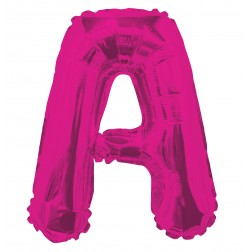 """AirFilled: 14"""" LETTER A HOT PINK"""