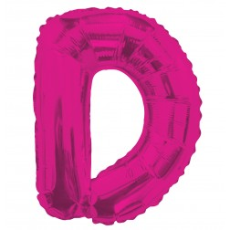 """AirFilled: 14"""" LETTER D HOT PINK"""