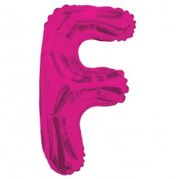 """AirFilled: 14"""" LETTER F HOT PINK"""