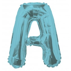 """AirFilled: 14"""" LETTER A LIGHT BLUE"""