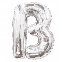 """AirFilled: 14"""" LETTER B SILVER"""