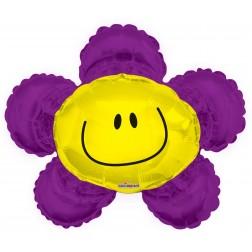 """14"""" Smiley Flor Morada"""