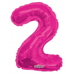 "AirFilled: 14"" NUMBER 2 HOT PINK"