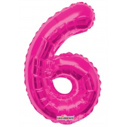 """AirFilled: 14"""" NUMBER 6 HOT PINK"""