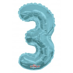 "AirFilled: 14"" NUMBER 3 LIGHT BLUE"