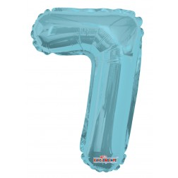 """AirFilled: 14"""" NUMBER 7 LIGHT BLUE"""