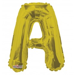 """AirFilled: 14"""" LETTER A GOLD"""
