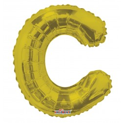 """AirFilled: 14"""" LETTER C GOLD"""