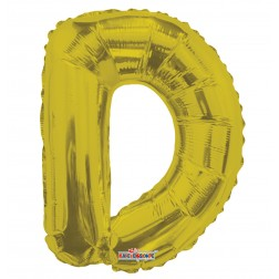 """AirFilled: 14"""" LETTER D GOLD"""